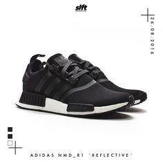 "Der adidas NMD_R1 (CORE BLACK/CORE BLACK/ WHITE) aus dem ""Reflective Pack"" ist…"