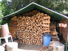 "My ""woodshed"" topped up for another winter; feels great!"