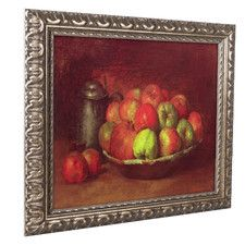 'Still Life with Fruit' by Gustave Courbet Ornate Framed Art