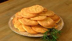 Rosemary Cookies - a simple cookie and it includes one of my favorite herbs, rosemary.