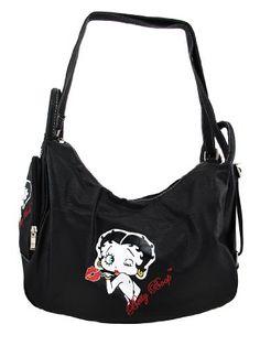 Black Betty Boop 4-in-1 Shoulder, Sling, Backpack, Tote Bag Things2Die4 http://www.amazon.com/dp/B0081KT8HM/ref=cm_sw_r_pi_dp_9f64tb09XYDYZ