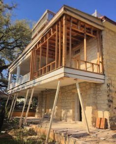 We decided to use those trendy skinny angled columns like all the kids are using these days... #tenthstreetproject #circa1876 #austinarchitecture #austinarchitect #keepingourfingerscrossed @risingerbuild by hughjeffersonrandolpharchitect