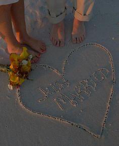 Barefoot Beach Wedding - perfect Hutchinson Island style! @ Courtyard Marriott Hutchinson Island