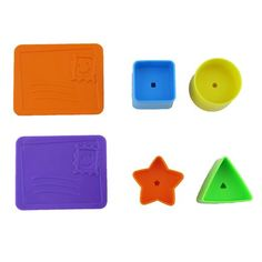 Replacement parts for Laugh and Learn Puppy's Smart Activity Home (Model BFK48) Includes: 2 Letters Square Shape Star Shape Triangle Shape and Circle Shape...
