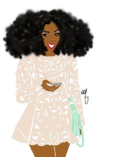 Black girl smile par Nikisgroove sur Etsy