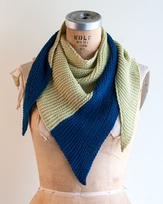 Knit this light and lofty pretty wrap just in time for spring. Use two of your favorite colors or choose something new for the perfect contrast. Mint Julep is fun to wear and easy to knit. It's worked from side to side so give it a try for a little something different!