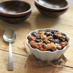 Baked French Toast topped w Blueberry Crisp. Vegan, easily GF. (top w any fruit, or bananas fried in maple syrup and butter...) or choc chips. Lol