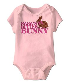 Look at this #zulilyfind! Pink 'Nana's Bunny' Bodysuit - Infant by American Classics #zulilyfinds