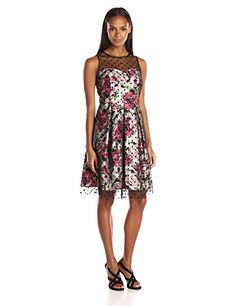 online shopping for Sandra Darren Women's SD Collection Polka Dot Dress from top store. See new offer for Sandra Darren Women's SD Collection Polka Dot Dress Lover Dress, Illusion Dress, Womens Cocktail Dresses, Summer Dresses, Formal Dresses, Dot Dress, Special Occasion Dresses, Fit And Flare, Dresses Online