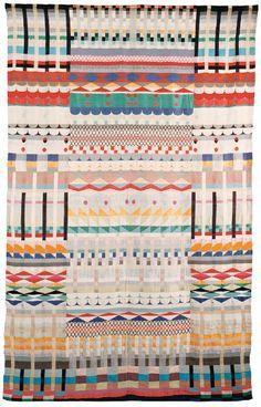 Bauhaus textiles at the MOMA. Bauhaus Interior, Architecture Bauhaus, Art Textile, Textile Artists, Textile Patterns, Print Patterns, Art Bauhaus, Bauhaus Textiles, Bauhaus Design