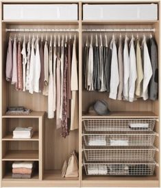 Ideas for bedroom closet organization ikea pax wardrobe Diy Wardrobe, Wardrobe Storage, Bedroom Wardrobe, Wardrobe Design, Closet Storage, Bedroom Storage, Clothing Storage, Wardrobe Ideas, Modern Wardrobe