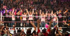 World Wrestling Entertainment (W.W.E.) Superstars John Cena and (&) Roman Reigns honor breast cancer survivors on WWE Monday Night RAW during National Breast Cancer Awareness Month.  Get the gear & join the fight throughout the month (mo.) of October (Oct.) by visiting WWEShop.com ÞØÐ̄ ̏⁄