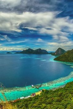 View from peak of Bohey Dulang Island...