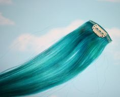 Turquoise Human Hair Extensions Colored Hair by Cloud9Jewels, $15.00