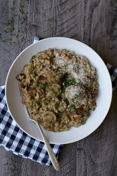 savory Sausage and Mushroom Risotto / joy the baker