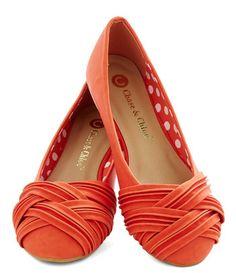 beautiful #orange ballet flats  http://rstyle.me/n/eufsrpdpe