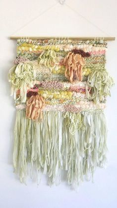 Unique handmade and vintage home decor Weaving Wall Hanging, Weaving Art, Loom Weaving, Tapestry Weaving, Wall Hangings, Hand Weaving, Cool Tapestries, Yarn Wall Art, Peg Loom