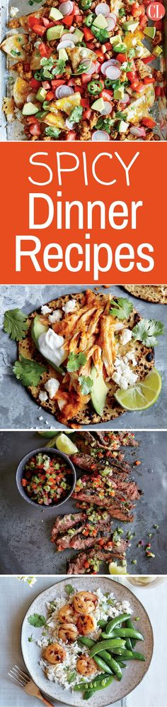 Deliver a punch of spice and heat to the dinner plate with these spicy recipes. Fiery and flavorful, these recipes inspired by the cuisines of the world will tickle the flavor buds of all the hot heads in your family and delight eaters who adore global cuisine. | Cooking Light
