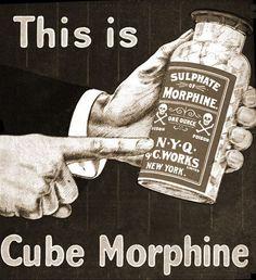 Publicidad de 1902 de venta directa al público de morfina
