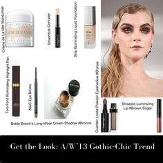 Rock the Gothic-chic beauty trend! #groomedandglossy #beauty #gothic #punk #makeup http://www.groomedandglossy.com/get-the-look-aw13-gothic-chic-trend/
