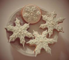 Biscoitos decorados frozen