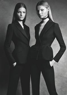 A girl should always have a strong black suit