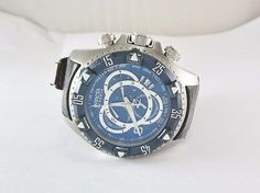 6dc9a4b2fbd MEN S INVICTA RESERVE EXCURSION BLUE DIAL SS DIVE WATCH   11021 W  LEATHER  BAND