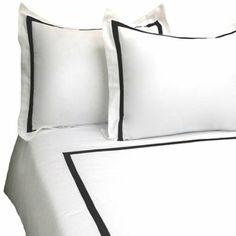 Amazon.com - MARRIKAS 3 PC 300TC Cotton QUEEN BLACK WHITE Duvet Cover Set