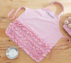 Pink Ruffle Gingham Apron #pbkids