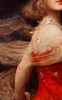 Dancing in a red dress... Enthralling moves and poses.