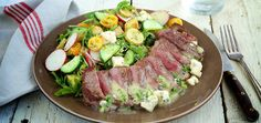 Steak Salad with Gorgonzola Horseradish Dressing | Chef'd