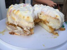Fallen Angel Cake Angel Cake, Ice Cream, Desserts, Food, Angel Food Cake, No Churn Ice Cream, Tailgate Desserts, Angel Food Cakes, Dessert