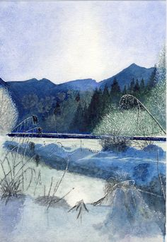 blaue Schneelandschaft, U. Kretschmer