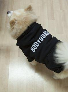 "Black ""Bodyguard"" Dog Hoodie - Cute for your Sweet Dog | Posh365"
