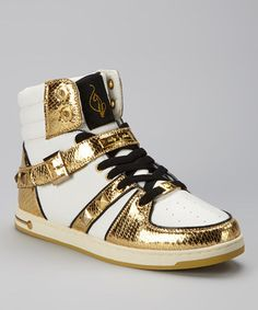 love these gold high tops