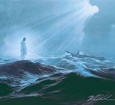 My favorite painting of Jesus walking on water