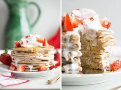 Easy Vegan and Gluten-Free Pancakes (Strawberry Shortcake w/ Whipped ...