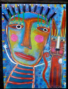 """""""The Cat Whisperer"""" Tracey Ann Finley ART"""