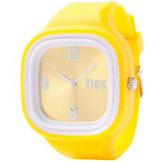 Classic yellow Flex Watches with yellow sports watch Face elastic