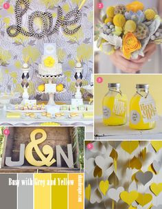 Yellow Grey Inspiration Board