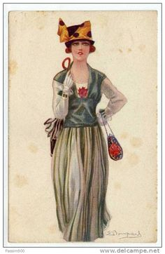DONNINA - 1919 / ILLUSTRATORE BOMPARD