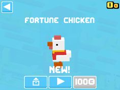 Just unlocked Fortune Chicken! #crossyroad
