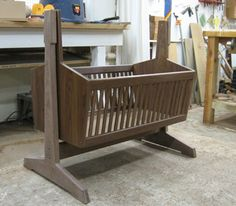 Cradle, a Tutorial with Plans. Just like the one my dad made for my son, the first grandchild. Has been passed around the family to be used for many babies! He would love knowing great grandchild #3 is about to use it! ♥