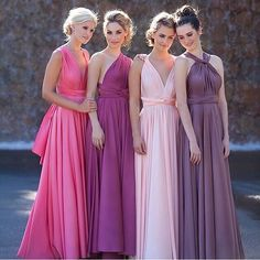 Eliza and Ethan multi way wrap bridesmaids dress over 20 different colour and 20 different ways to wear it. Available from www.theweddingdressscompany.co.uk