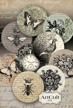 Cd Crafts, Arts And Crafts Projects, Paper Crafts, Iron Orchid Designs, Artist Trading Cards, Art File, Collage Sheet, Digital Collage, Arts And Crafts