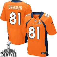 Joel Dreessen Elite Jersey-80%OFF Nike Joel Dreessen Elite Jersey at Broncos Shop. (Elite Nike Men's Joel Dreessen Orange Super Bowl XLVIII Jersey) Denver Broncos Home #81 NFL Easy Returns.