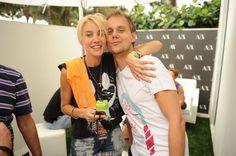 Mim from Nervo with Armin van Buuren at the SOL REPUBLIC x Motorla Music Lounge