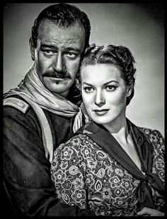 Rio Grande Old Hollywood Actors, Classic Hollywood, Maureen O'hara, Great Films, John Wayne, Rio Grande, Westerns, Pin Up, Stars