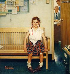 1953 ... Girl With Black Eye - Norman Rockwell by x-ray delta one,