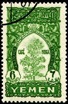 Mocha coffee tree, engraved and printed by Institut de Gravure, Paris, and issued by Yemen in June, Scott No. Old Stamps, Vintage Stamps, International Craft, Stamp Auctions, Coffee Plant, Picture Postcards, Hand Engraving, Stamp Collecting, Poster